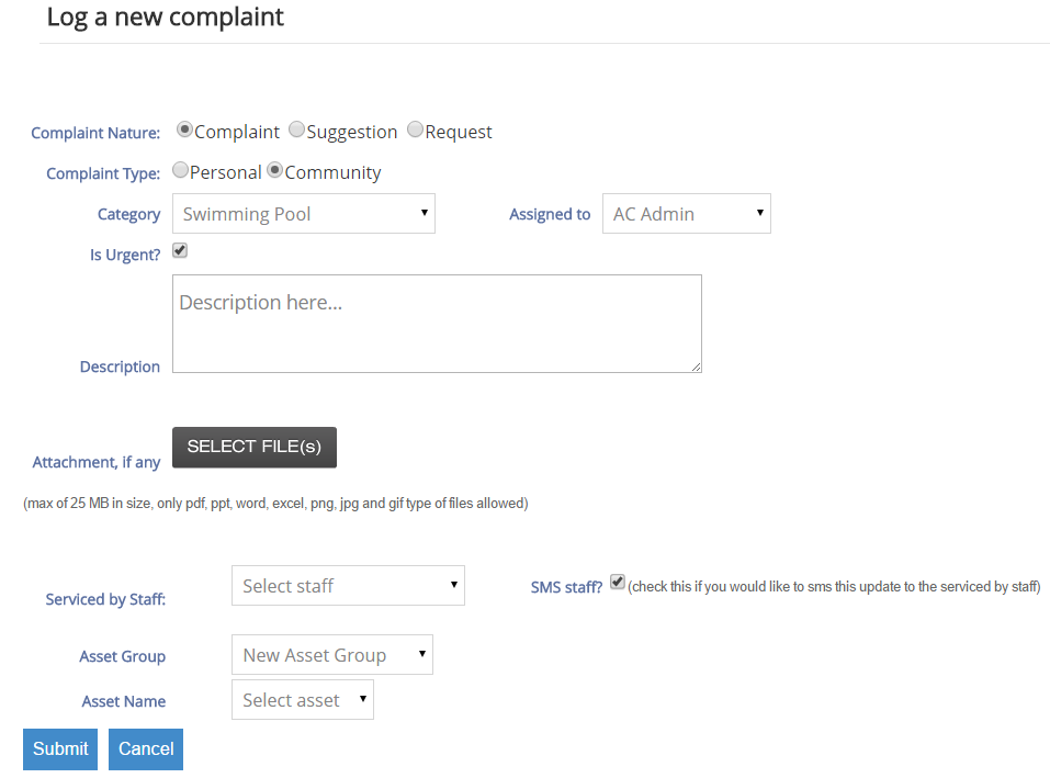 New Complaint