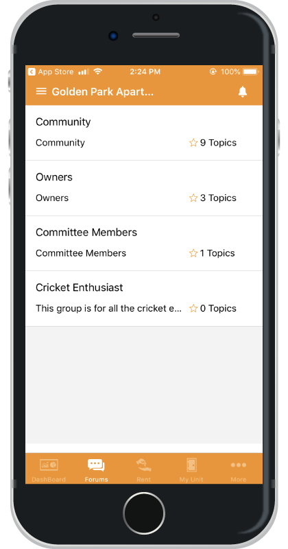 ApnaComplex iOS App Forums